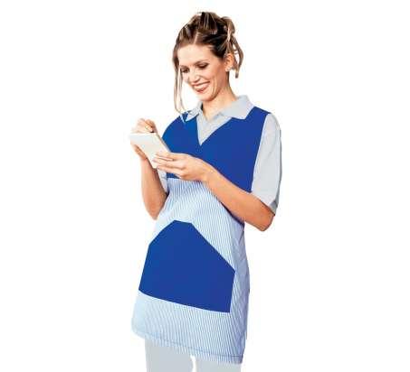 Poncho Collo A V - Isacco - Blu+Riga Blu