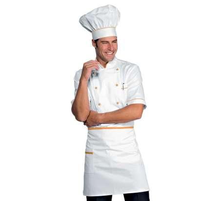 M Mezza Manica 100/% Cotone Bianco+Italy Isacco Giacca Cuoco Alicante Bianco+Italy