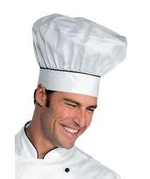 Cappello Cuoco - Isacco - Bianco+Nero