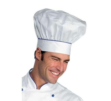 Cappello Cuoco - Isacco - Bianco+Blu Cina