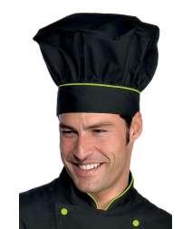 Cappello Cuoco - Isacco - Nero+Verde Mela