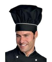 Cappello Cuoco - Isacco - Nero+Bianco