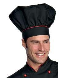 Cappello Cuoco - Isacco - Nero+Rosso