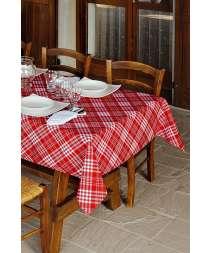 Tovagliato Tartan - Isacco - Bianco+Rosso, Grigio, Crema, Azzurro, Rosa, Biscotto, Albicocca, Lilla, Nero+Rosso, Verde Mela