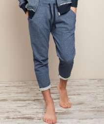 Attiva Contrast Pantalone Felpa 70/30% Cot/Pol 250