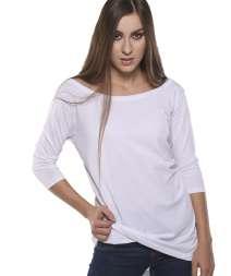 Moda Donna Maglia Back Longer M/3-4 100% Cot.140gr