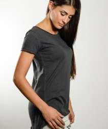 Moda Donna Maglia Fiammata Long M/C 100% Cot.140gr