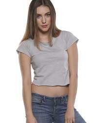Moda Donna Maglia Corta C/T M/C T/V 100% Cot 140gr