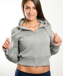 Moda Donna Felpa Cap/Zip 80/20% Cot/Pol 300 gr/m2