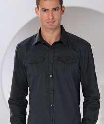 Camicia Twill M/L Risvolto 100% Cotone 130 gr/m2