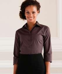 Camicia Donna Elast. M 3/4 97/3% Cot/Ela 140 gr/m2