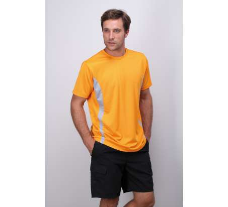 Sport Tee Maglia Contrast M/C 100% Poly 140 gr/m2