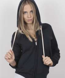 Stile Donna Felpa Cap/Zip 70/30% Cot/Pol 300 gr/m2